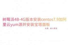树莓派4B-4G版本安装centos7.9加阿里云yum源并安装宝塔面板